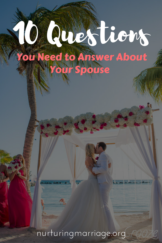 Start with these ten questions. They will help ignite within you a deep gratitude and love for your spouse and help you realize that your spouse really is your EVERYTHING. (Side-note: How would your spouse answer these questions about you? Perhaps sit down together and answer these questions about each other, then share.)