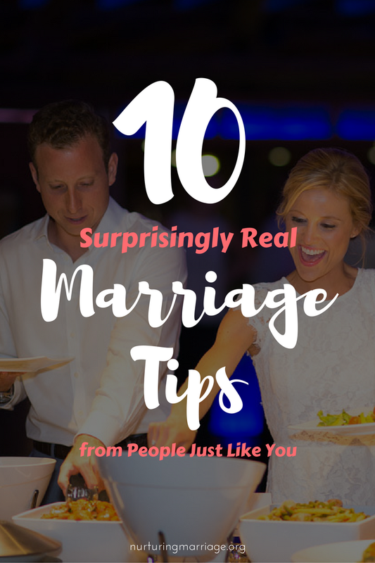 Some frank, funny, and surprisingly real marriage tips. #nurturingmarriage