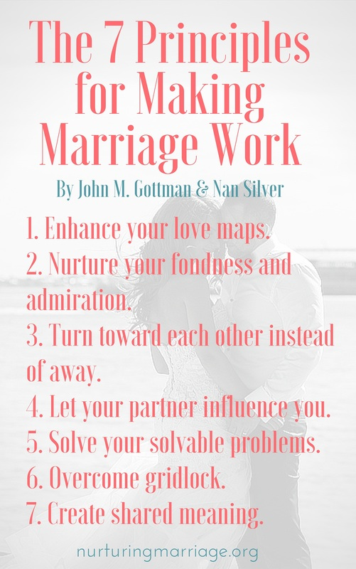 The 7 Principles for Making Marriage Work