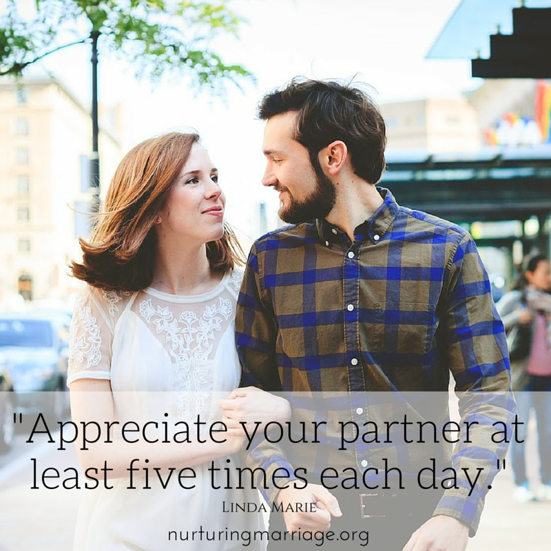 Appreciate your partner at least five times a day. Do you do this? Check out this website for more awesome #marriage advice.