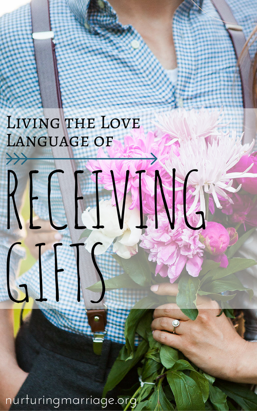 Living the Language of Receiving Gifts - With gifts, we give something material as a palpable symbol of love. Gift giving is separate and distinct, however, because this time, what we give is tangible. The receiver can literally hold the gift in his or her hands, keep it for years, and look to it as a reminder of love.