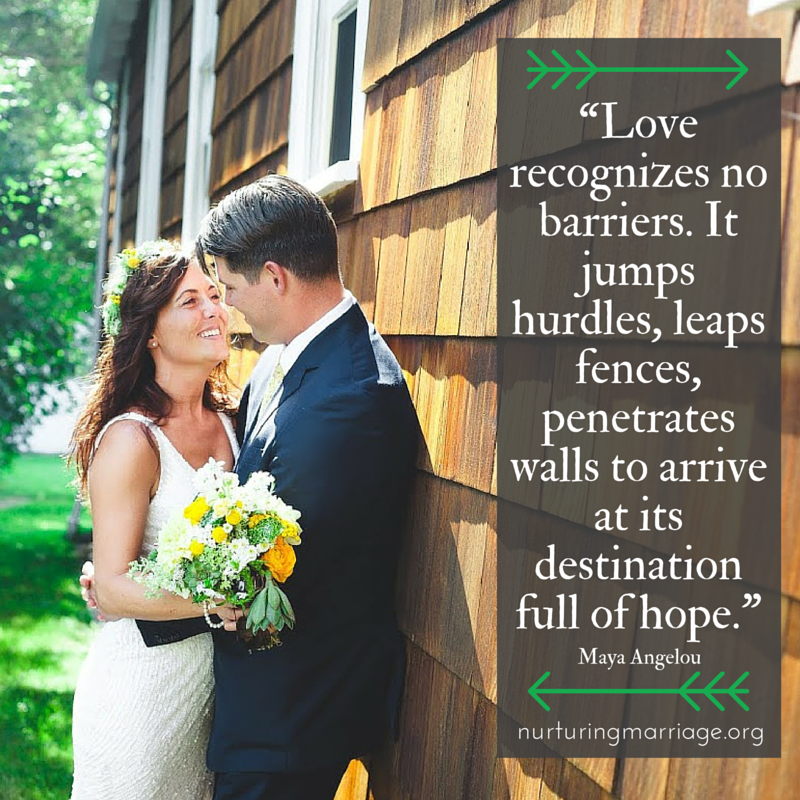 Love recognizes no barriers. It jumps hurdles, leaps fences, penetrates walls to arrive at its destination full of hope. (ah, romantic quotes - this site is full of them! REPIN to save for later!)