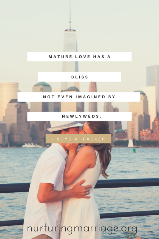 Mature love has a bliss not even imagined by newlyweds. Boyd K. Packer - I love all these awesome marriage quotes!