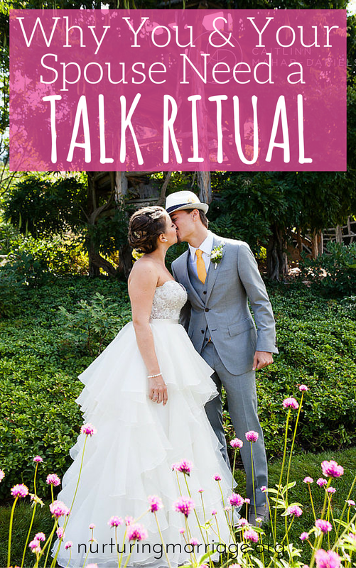 Why You & Your Spouse Need a Talk Ritual - Have you ever found yourself wondering how it is that the person you used to call, text and spend every waking moment with seems to have disappeared from your life? You are like two ships passing in the night. He works late, you leave early. You never notice when he slips into bed at night, and you hardly see each other in the course of a week. You never have meals together, rarely text each other, and hardly ever have real conversations since your conversations on the phone always seem to go like this: