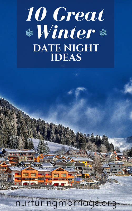 I want to do all of these. So many fun ideas! 10 Great Winter Date Night Ideas - The bleak mid-winter is upon us (at least where we live). So it's definitely time for some romantic, cozy, and adventurous date nights to help with the winter blues. Any of these 10 Great Winter Date Night Ideas below are sure to spice up your marriage, help you and your spouse have fun together, and create happy memories. ​***Oh, and the popcorn recipe below is a MUST-TRY. Like, tonight. Make it. You won't regret it. (I love this marriage website - so many great date ideas!)