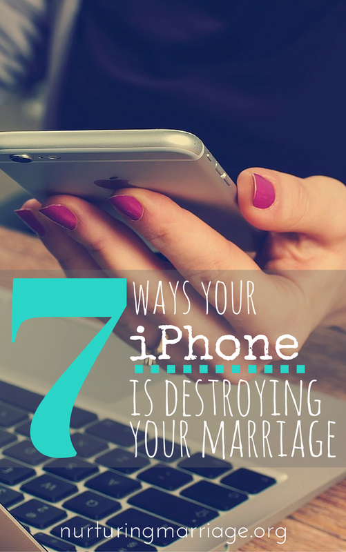 7 Ways Your iPhone is Destroying Your Marriage - If you're not careful, there are seven ways that your iPhone could be destroying your marriage - without you even realizing it!