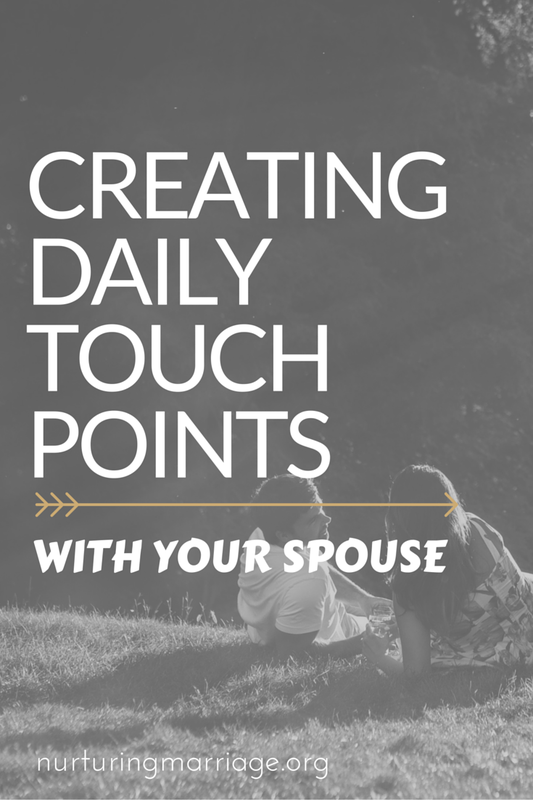 Such practical ways to connect with your spouse on the daily.