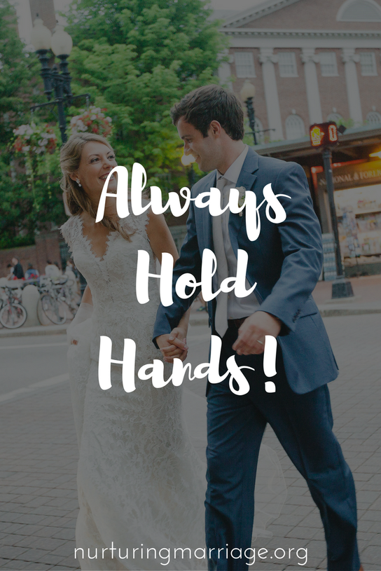 Could holding hands with your spouse be a simple way to rekindle that loving feeling in your marriage?