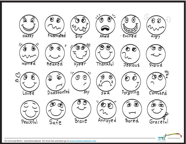 A great chart for helping kids identify their feelings.