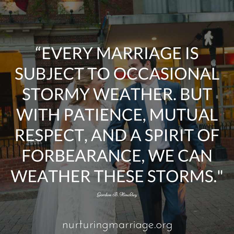 every marriage has storms