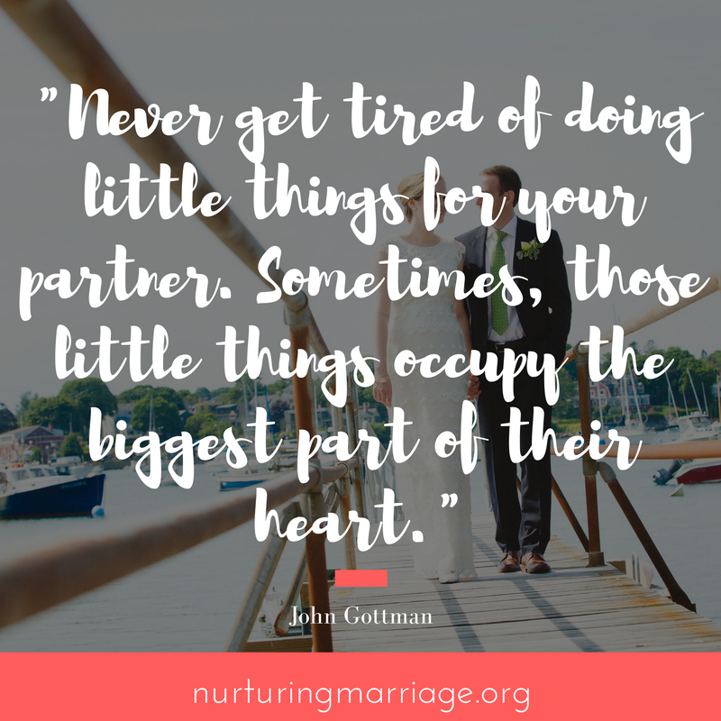 Do little things for your spouse.