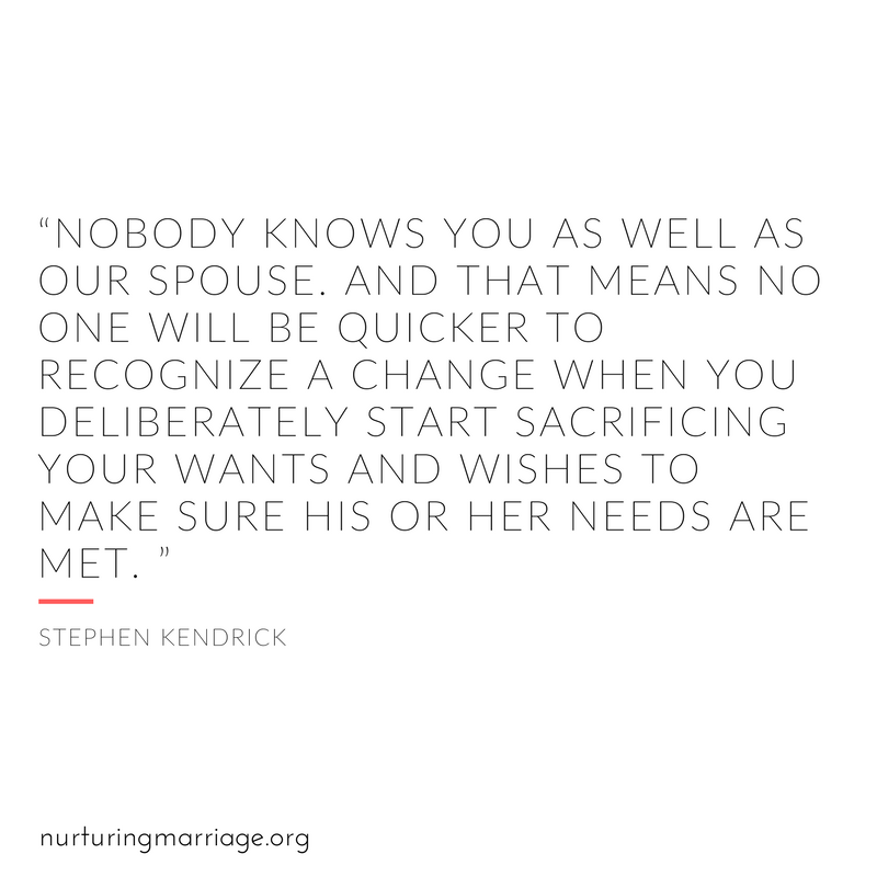 Nobody knows you as well as your spouse.