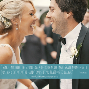Make laughter the soundtrack of your marriage. Love this website! #nurturingmarriage