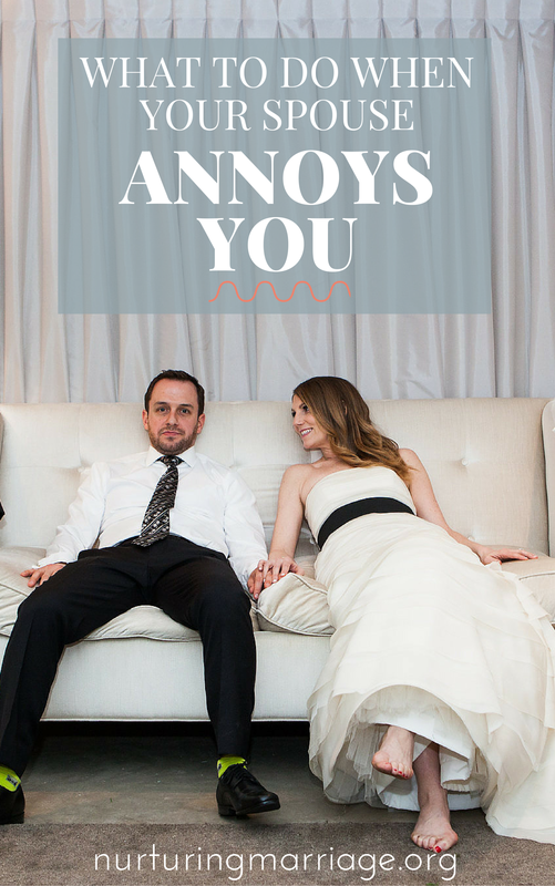 A MUST READ FOR ALL MARRIED COUPLES - so so good! What to Do When Your Spouse Annoys You - So, you are frustrated with your husband or wife. Annoyed. Bugged. Upset. Again. You've admitted to yourself that there are tons of things you don't like about your spouse. You're discouraged. You don't want to feel this way, but it seems like your spouse keeps doing things that annoy you, or frustrate you, or hurt your feelings. You don't feel as close to your spouse as you used to. You're starting to think that If things don't change, you'll be stuck in a dying, distant marriage forever. Be encouraged - you are not alone. Marriage is hard. For everyone. But that's okay. We don't have to run away from hard. We don't have to run away from stress. We don't have to run away from annoying. We don't have to run away when things don't go our way. You see, living with a spouse isn't easy. Yet, it's beautiful because of what it does for us. It requires the very best of us. It tests us and tries us and refines us and makes us better people - if we choose to let it. And it causes love to grow. You are creating family here. Family - the people who are stuck with you (or choose to stick with YOU) through thick and thin, right? The people who know everything about you and still kind of like you (or LOVE you). So, you may have rough days where your spouse drives you batty and you realize that they aren't meeting your expectations for a spouse by any means. Is that means for a fight? For criticism? For divorce? Simply because your spouse isn't who YOU want them to be, or because they aren't doing things the way YOU wish they would? ​I don't think so. It's pretty easy to find faults in others, even without realizing we are doing it. Scary, I know. So, if you have found yourself creating a laundry list of things you don't like about your spouse, stop it. Right now. And try one of the following four options to help you like your spouse more. These four suggestions are time-tested principles that are proven to help you not just endure your marriage, but to actually enjoy your marriage.