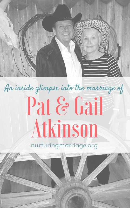 An inside glimpse into the marriage of Pat & Gail Atkinson - so fun to read about another couple's marriage! Love this great #marriageadvice - REPIN for sure!