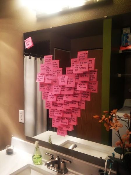 post-it note heart attack for my hubby