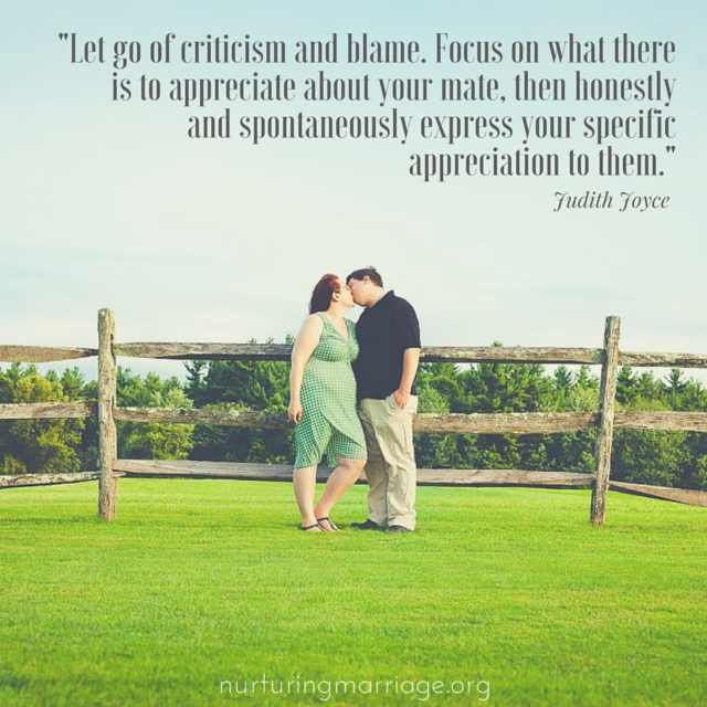Let go of criticism and blame. #bestmarriagewebsite