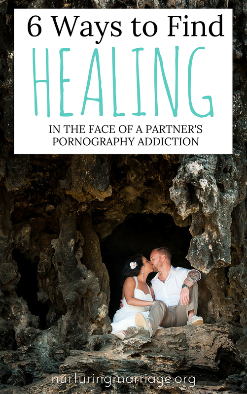 6 Ways to Find HEALING in the Face of a Partner's Pornography Addiction - Watching a loved one struggle through an addiction can be devastating. When a partner struggles with a pornography addiction, the spouse is often left with an array of emotions to deal with – perhaps you find yourself consumed by anger, paralyzed by a sense of helplessness, or deeply hurt by the feeling of betrayal you are experiencing. If these experiences sound familiar, please consider the following suggestions in dealing with your partner's addiction. 1) It's not about you. Often, when a spouse discovers their partner's pornography addiction, he/she may look inward for an explanation. They tell themselves that if they were younger, more attractive, or in better shape, their spouse wouldn't be struggling with a pornography addiction. As personal as it may seem, the addiction is actually about the addict, not the physical appearance of the spouse. 2) Focus on Yourself. Remember to take time to take care of yourself. While the revelation of a pornography addiction can be devastating, resist the temptation to allow it to consume your life. Stay active in your hobbies and friendships outside of your romantic relationship. Taking time for you can help make the addiction seem more manageable. If you stay emotionally and physically healthy by taking time for yourself, you will be better able to help yourself and your partner deal with the addiction.