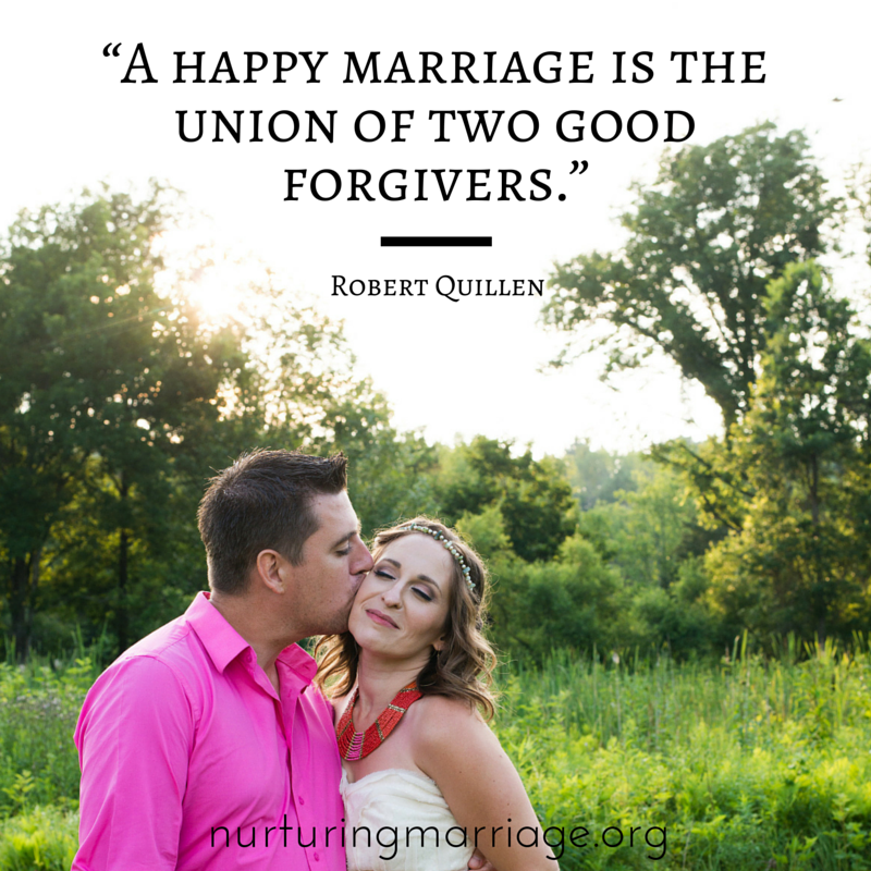 A happy marriage is the union of two good forgivers. (Well, isn't this the truth?! Ah, I love this reminder of the true secret to happily ever after. Check out this marriage site for tons of other great quotes!)