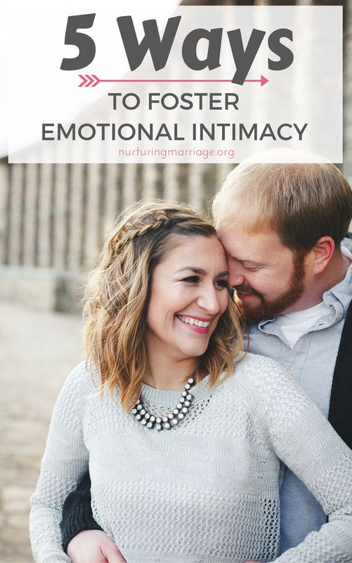 Emotional intimacy is actually a critical component to the health of any marriage, and a vital and important part of overall intimacy between husband and wife. Try one of these 5 ways to foster emotional intimacy in your marriage, this week! #sex #intimacy #relationshipgoals