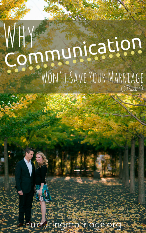 "Why Communication Won't Save Your Marriage (Part 1) - SUCH A FASCINATING ARTICLE! When you ask just about any couple for advice about how to succeed in marriage, their first response is usually, ""It's all about communication. You can't expect your partner to read your mind!"" While this advice is fine–I mean, it's definitely not going to hurt your marriage–research the past few decades has shown in that that answer also misses the boat. By a long shot. A recent study showed that couples' marital satisfaction after attending a 15-hour workshop where they worked on their communication and love ""skills,"" returned to where their satisfaction level had been before they even attended - after only a short amount of time. This could be disheartening to read…If communication isn't helping my marriage, then what else is left to try?"