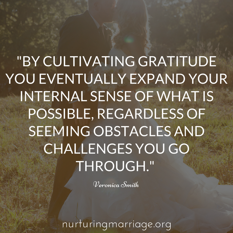 be grateful - more grateful for your spouse!