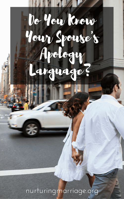 Yes, it's true. Did you even know you have an apology language? Did you even know that exists? You may be surprised to learn that each person has a different apology language - and knowing yours, and your husband's can improve your marriage in dramatic (and helpful) ways. (Apology Languages - Gary Chapman & Jennifer Thomas)