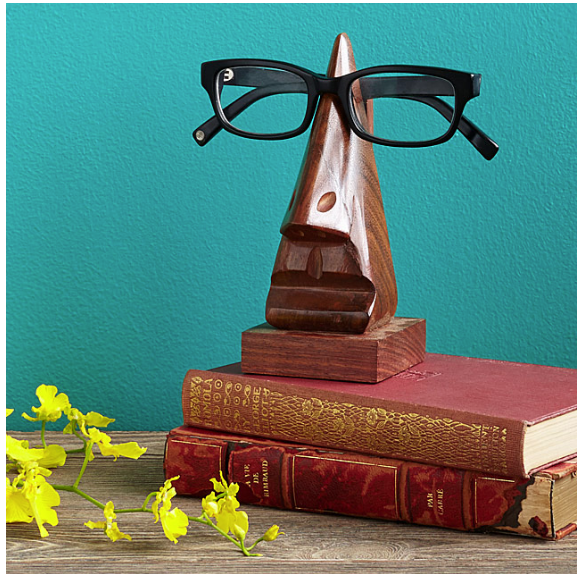 this eyeglasses holder will be perfect for my husband's office!