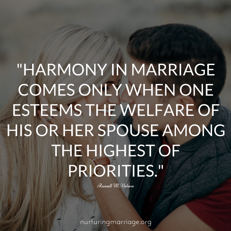 Harmony in marriage comes only when one esteems the welfare of his or her spouse among the highest of priorities. + awesome marriage quotes!