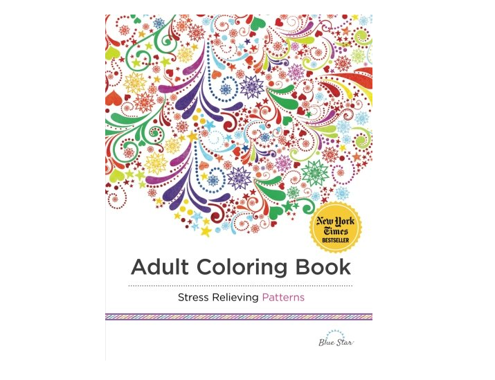 Stress-relieving coloring book for adults, yes please!